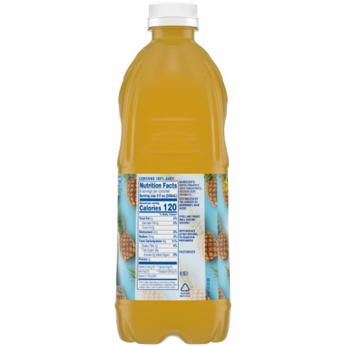 Kroger No Sugar Added 100% Pineapple Juice Perspective: right
