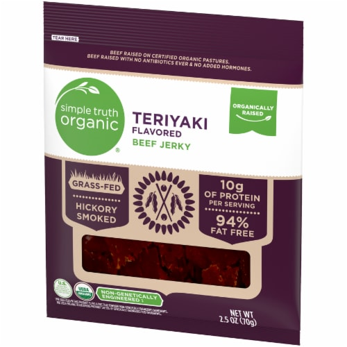 Simple Truth Organic® Teriyaki Flavored Beef Jerky Perspective: right