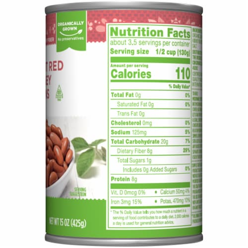 Simple Truth Organic™ Light Red Kidney Beans Perspective: right