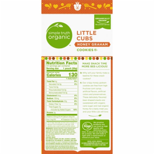 Simple Truth Organic™ Little Cubs Honey Graham Cookies Perspective: right