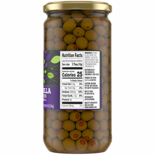 Kroger® Manzanilla Salad Olives with Pimiento Perspective: right