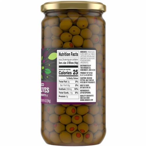 Kroger® Queen Olives Stuffed with Pimiento Perspective: right