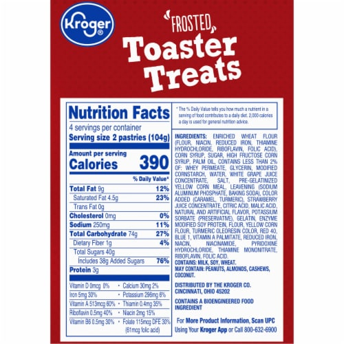 Kroger® Frosted Strawberry Toaster Treats Perspective: right