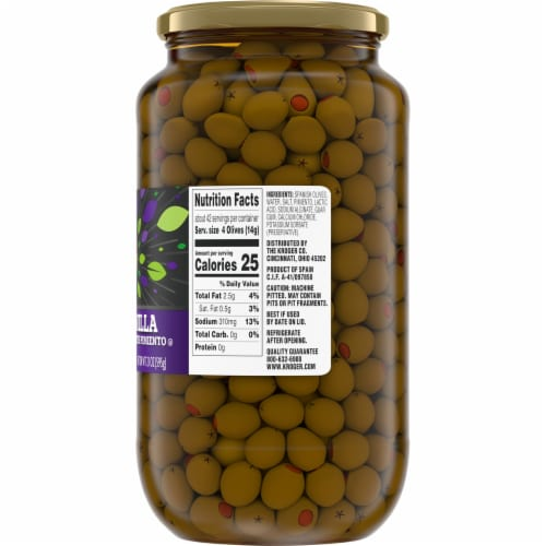 Kroger® Pimiento Stuffed Manzanilla Olives Perspective: right