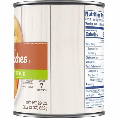 Kroger® Yellow Cling Sliced Peaches in 100% Fruit Juice Perspective: right