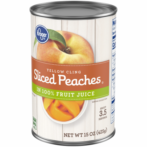 Kroger® Yellow Cling Sliced Peaches in Fruit Juice Perspective: right