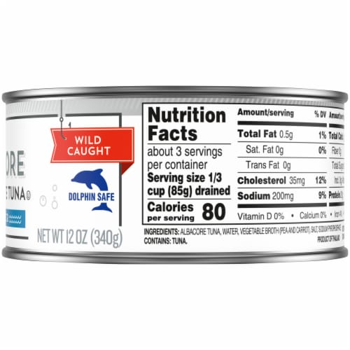 Kroger® Solid White Wild Caught Albacore Tuna in Water Perspective: right