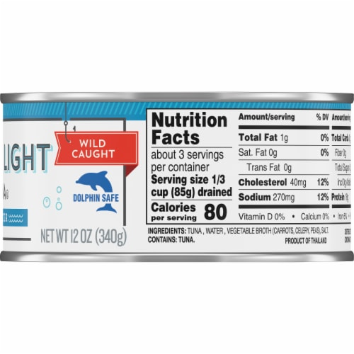 Kroger® Wild Caught Chunk Light Tuna in Water Perspective: right