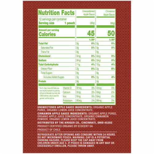 Simple Truth Organic® Unsweetened & Cinnamon Applesauce Variety Pack Perspective: right