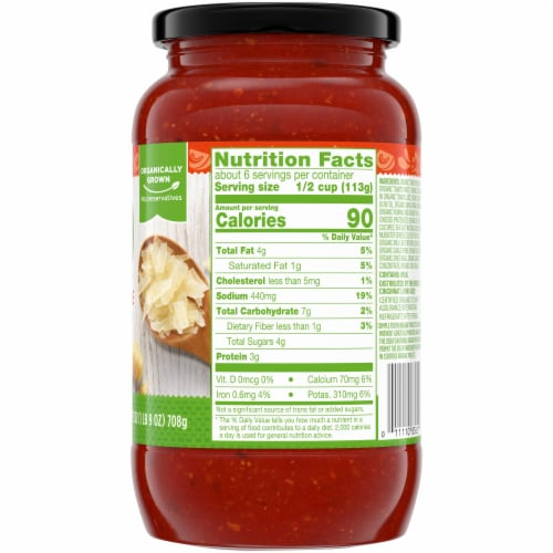Simple Truth Organic™ 4 Cheese Pasta Sauce Perspective: right
