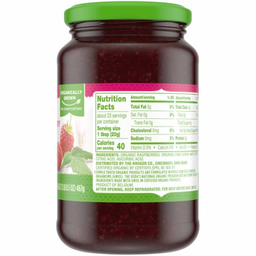 Simple Truth Organic™ Raspberry Fruit Spread Perspective: right