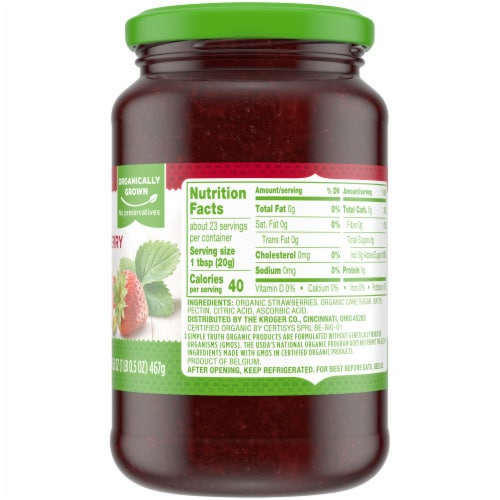 Simple Truth Organic™ Strawberry Fruit Spread Perspective: right