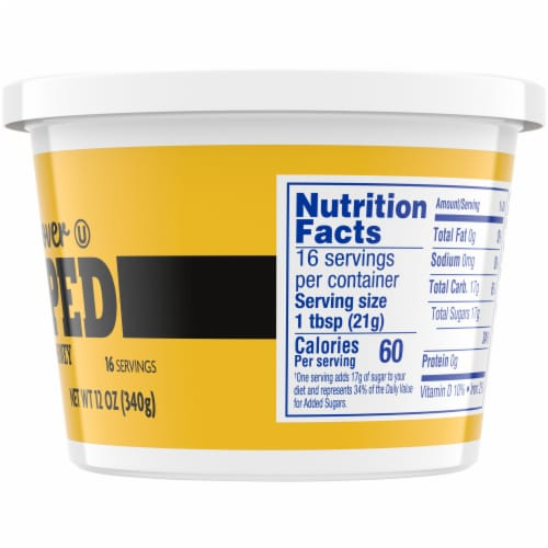 Kroger® Whipped Pure Clover Honey Tub Perspective: right