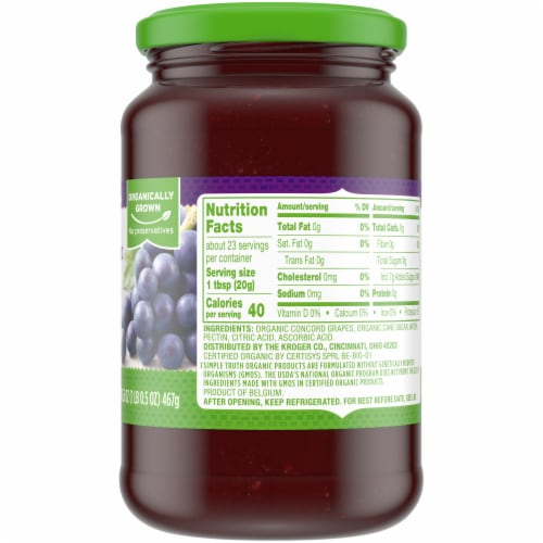 Simple Truth Organic™ Concord Grape Fruit Spread Perspective: right