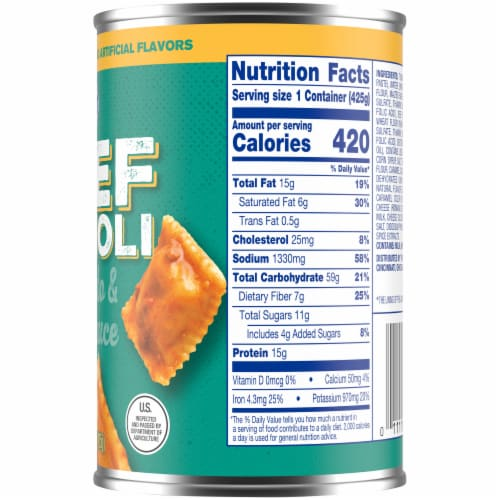 Kroger® Beef Ravioli in Tomato & Meat Sauce Perspective: right