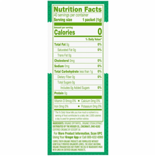 Simple Truth Organic™ Stevia Extract Blend Zero Calorie Sweetener Perspective: right