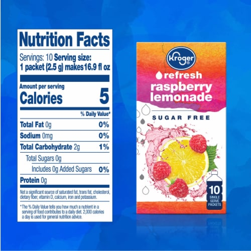 Kroger® Refresh Raspberry Lemonade Drink Mix Perspective: right