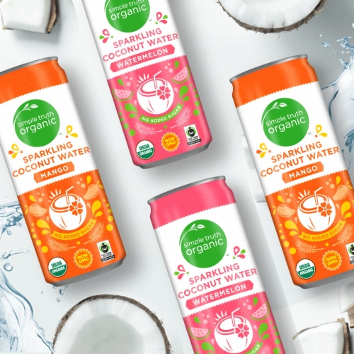 Simple Truth Organic™ Watermelon Sparkling Coconut Water Perspective: right
