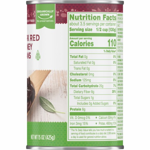 Simple Truth Organic® Dark Red Kidney Beans Perspective: right
