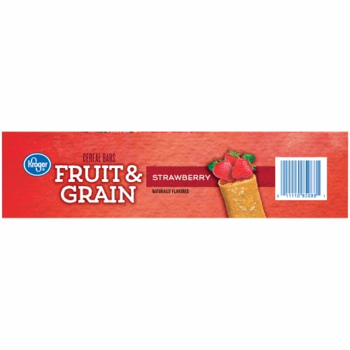 Kroger® Strawberry Fruit & Grain Cereal Bars Perspective: right