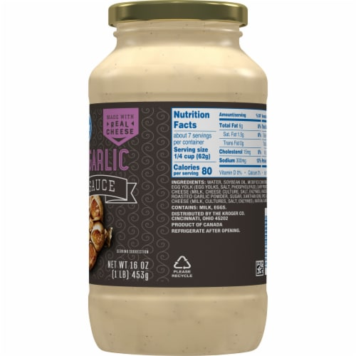 Kroger® Roasted Garlic Alfredo Sauce Perspective: right