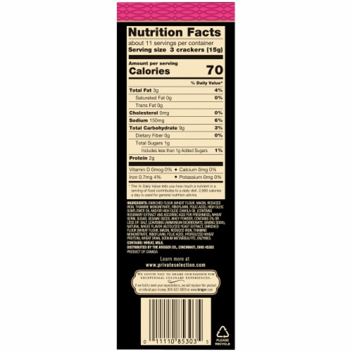 Private Selection® Sesame Entertainment Crackers Perspective: right