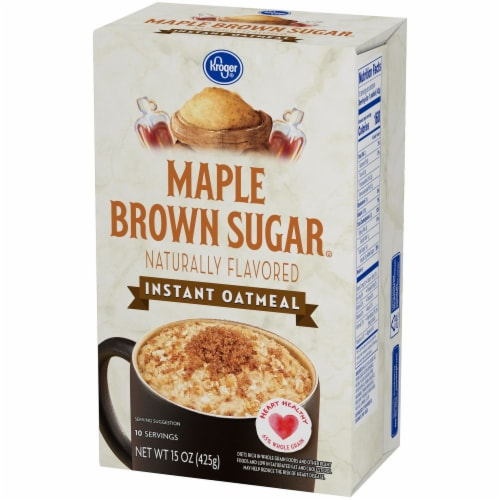Kroger® Maple & Brown Sugar Instant Oatmeal Perspective: right