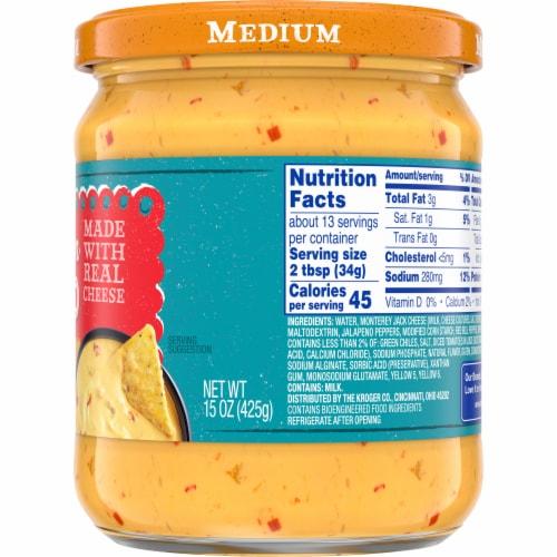 Kroger Medium Salsa Con Queso Cheese Dip Perspective: right