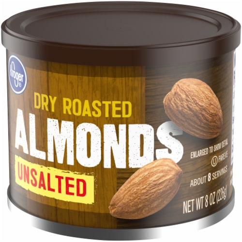 Kroger® Unsalted Dry Roasted Almonds Perspective: right