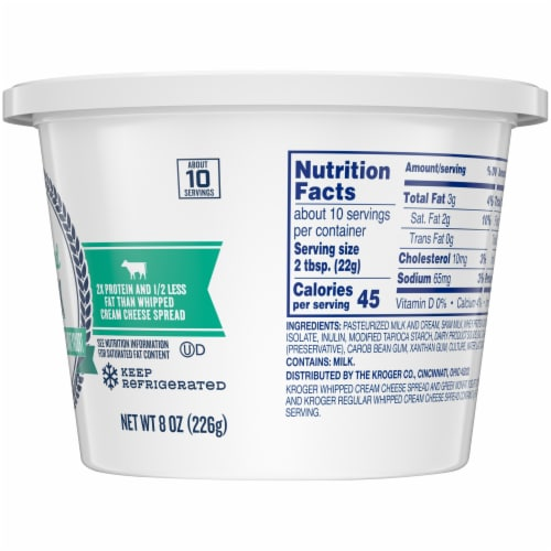 Kroger® Whipped Greek Cream Cheese Spread with Nonfat Yogurt Perspective: right