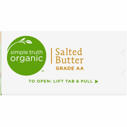 Simple Truth Organic™ Grade AA Salted Butter Perspective: right