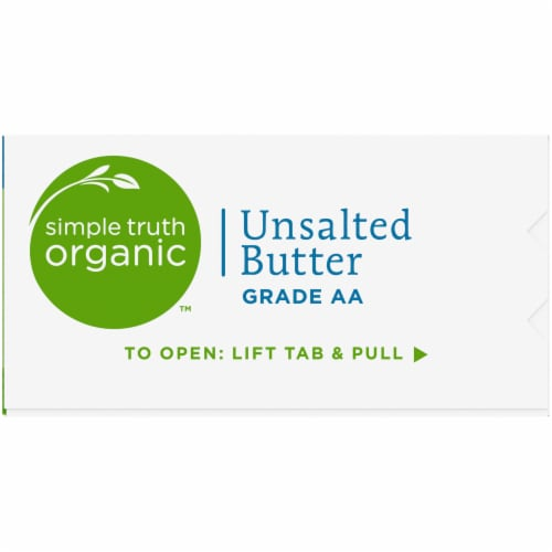 Simple Truth Organic™ Grade AA Unsalted Butter Quarters Perspective: right