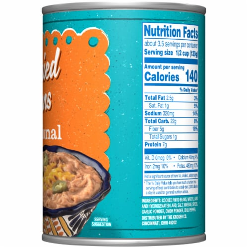 Kroger® Traditional Refried Beans Perspective: right