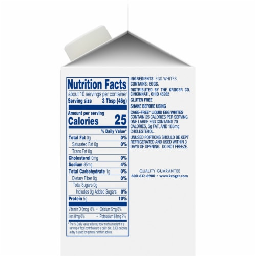 Kroger® Cage Free Liquid Egg Whites Perspective: right