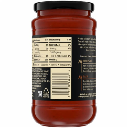 Private Selection® Heirloom Marinara Vine-Ripened Tomato Sauce Perspective: right