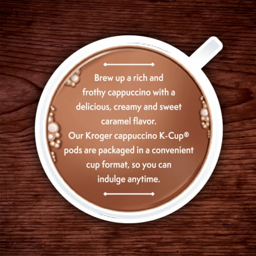 Kroger® Caramel Flavored Cappuccino K-Cup Pods Perspective: right