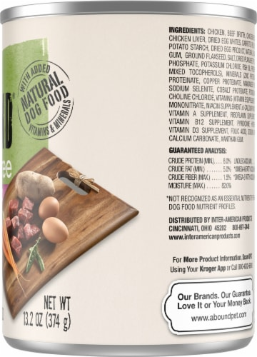 Abound™ Grain Free Beef & Vegetable Cuts in Gravy Wet Dog Food Perspective: right