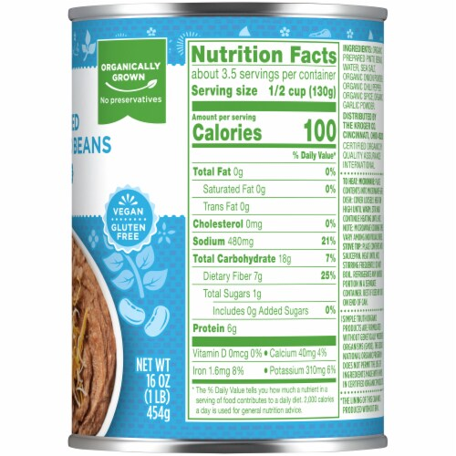 Simple Truth Organic® Fat Free Refried Pinto Beans Perspective: right