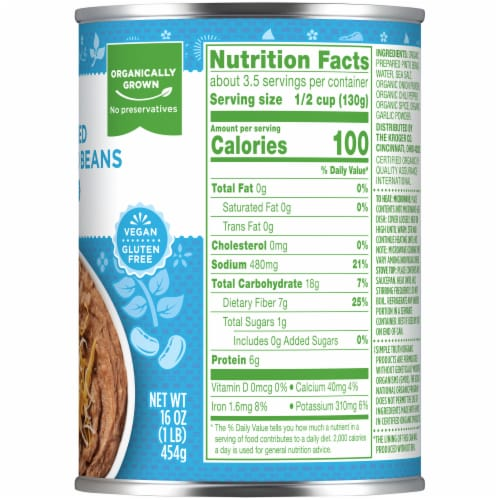 Simple Truth Organic™ Fat Free Refried Beans Perspective: right