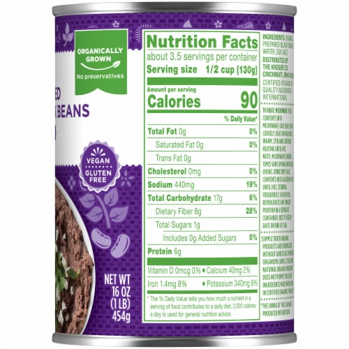 Simple Truth Organic® Fat Free Refried Black Beans Perspective: right