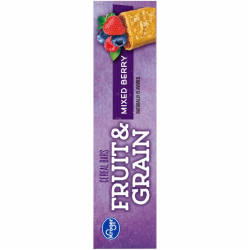 Kroger® Fruit & Grain Mixed Berry Cereal Bars Perspective: right