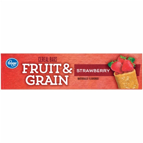 Kroger® Fruit & Grain Strawberry Cereal Bars Perspective: right