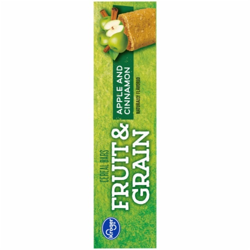 Kroger® Fruit & Grain Apple & Cinnamon Cereal Bars Perspective: right