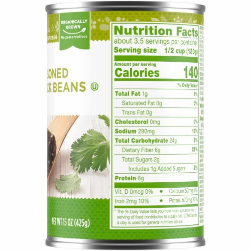 Simple Truth Organic® Seasoned Black Beans Perspective: right
