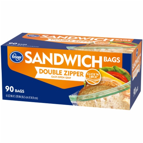 Kroger® Double Zipper Sandwich Bags Perspective: right