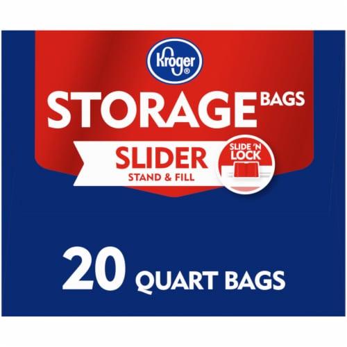 Kroger® Slide 'N Lock Quart Storage Bags Perspective: right