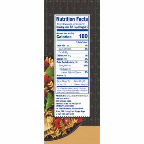 Kroger® 100% Whole Grain Salad Rotini Pasta Perspective: right