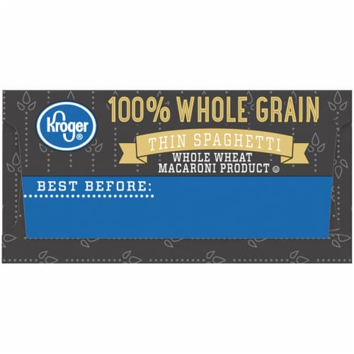 Kroger® 100% Whole Grain Thin Spaghetti Perspective: right