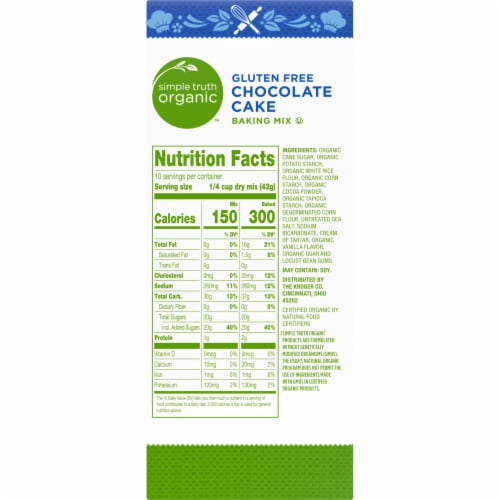 Simple Truth Organic™ Gluten Free Chocolate Cake Baking Mix Perspective: right