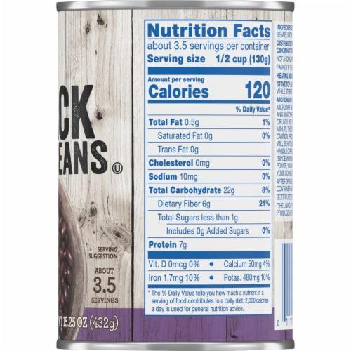 Kroger® No Salt Added Black Beans Perspective: right